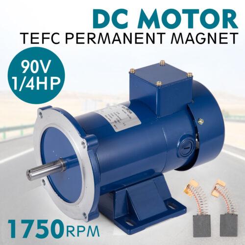 DC MOTOR 1//4HP 56C Frame 90V//1750RPM TEFC MAGNET Smooth Equipment Permanent