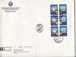 DéSintéRessé 1998 Fdc San Marino 50° Fiera Internaz. Francobollo Raccomandata First Day Cover