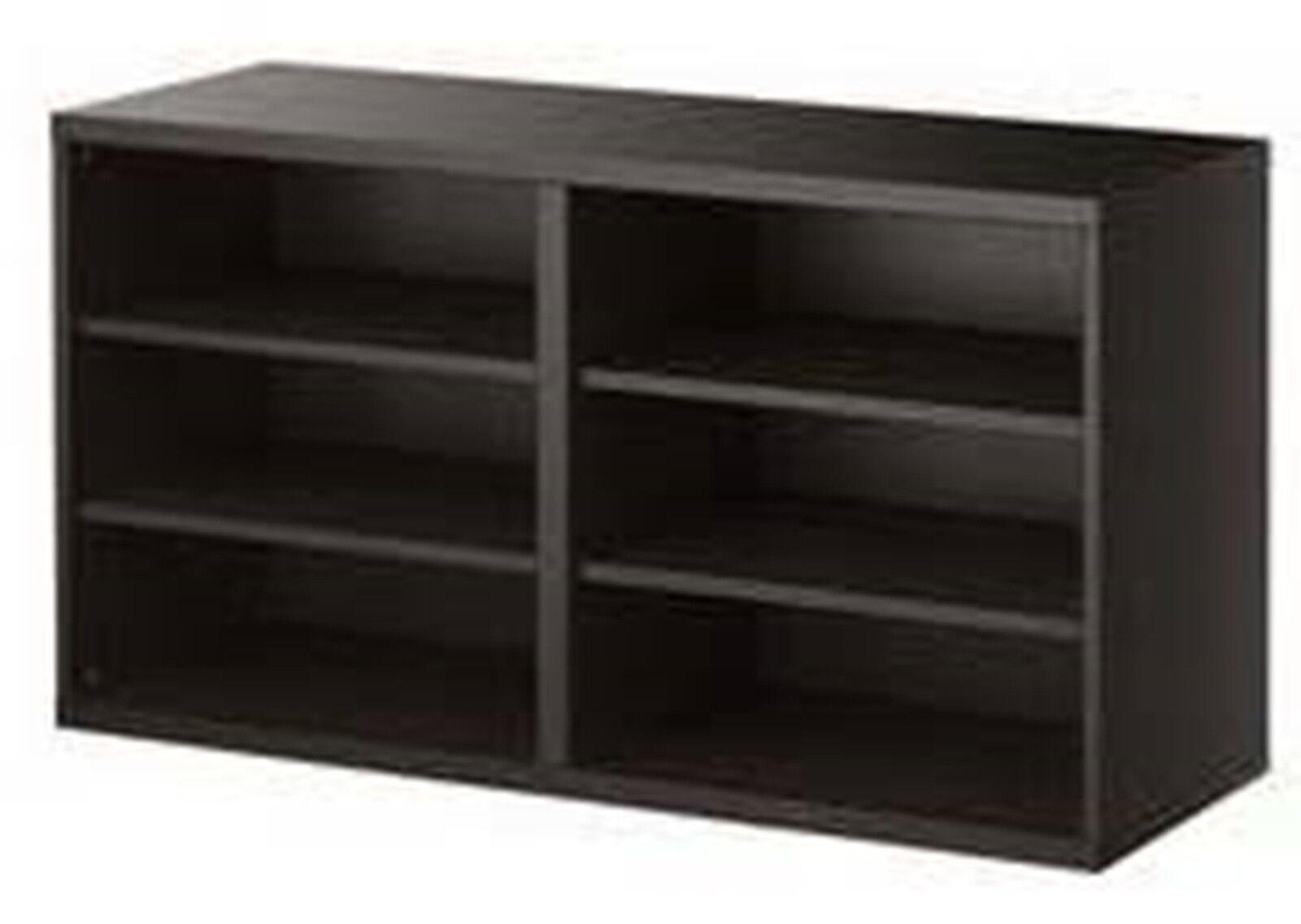 Ikea Besta Shelf Unit Media Storage Black Brown 20102154