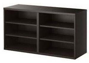 sports shoes 39783 ff5a1 Details about Ikea Besta Shelf unit media storage Black-Brown 201.021.54