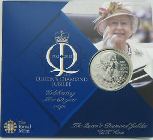 2012-UK-5-5-Pound-Coin-The-Queen-039-s-Diamond-Jubilee-Brand-New