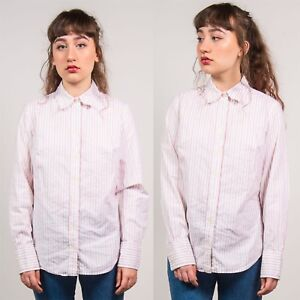 0642b1735 Image is loading TOMMY-HILFIGER-WHITE-STRIPED-SHIRT-WOMENS-SMART-WORK-