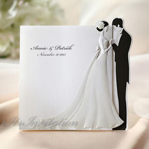 elegant wedding invitations personalized embossed cards envelopes