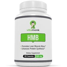 Vitamonk HMB Lean Muscle Mass Protein Synthesis Dietary Supplement 180 Capsules