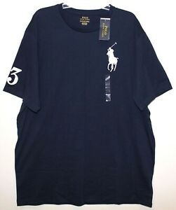 Polo-Ralph-Lauren-Big-and-Tall-Mens-LT-Navy-Blue-Big-Polo-T-Shirt-NWT-Size-LT