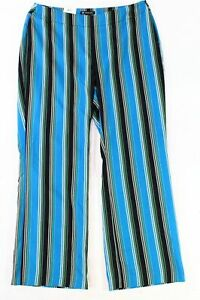 INC-Womens-Pants-Blue-Black-Size-26W-Plus-Striped-Side-Zip-Stretch-1019