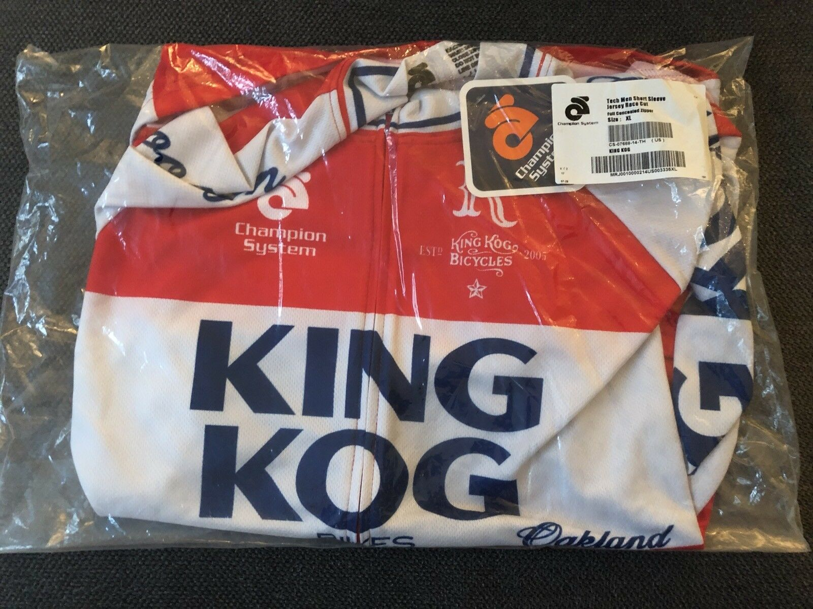 NEW KING KOG KING OF GEARS CYCLING JERSEY XL