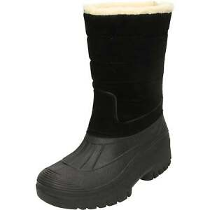 Groundwork Active Insulated Mucker Wellington Boots Black Warm Thermal Shoes Ski