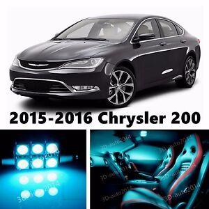 14pcs Led Ice Blue Light Interior Package Kit For 2015 2016 Chrysler 200 6507024101163 Ebay