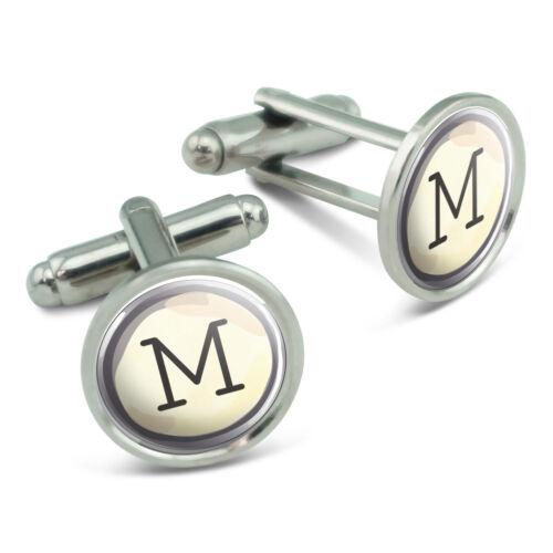 Letter M Typewriter Key  Men/'s Cufflinks Cuff Links Set