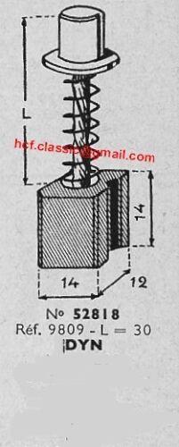 L shunt = 30 balai  pour dynamo DUCELLIER charbon
