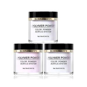 BORN-PRETTY-Acrylic-Powder-Set-Pink-White-Clear-Extension-Nail-Polymer-Powder
