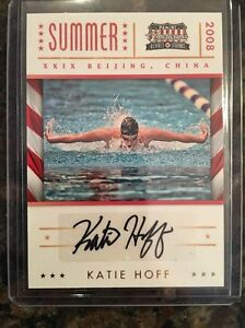 2012 Katie Hoff panini americana heroes legends Autograph USA Swimming 08/99