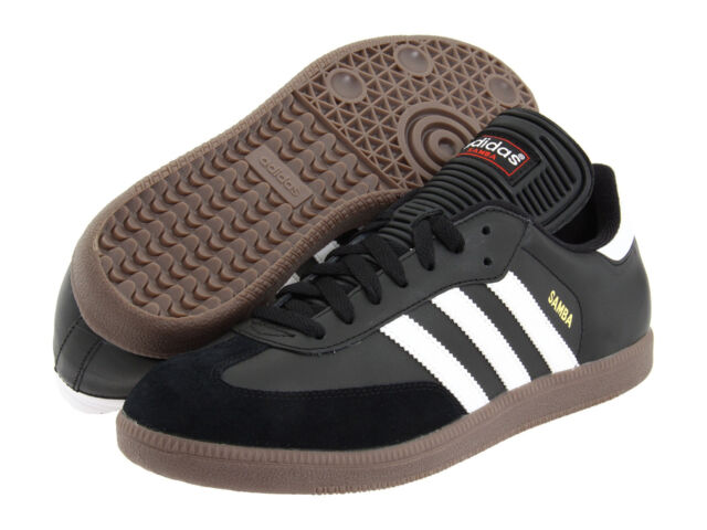 bca4b450cb24fd Mens Adidas Samba Classic Black Athletic Indoor Soccer Shoes 034563 Size  6.5-12