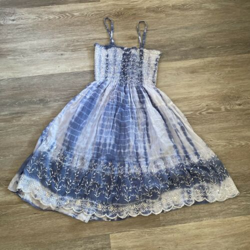 tie dye blue sparkly flowy fairy fairycore boho d… - image 1