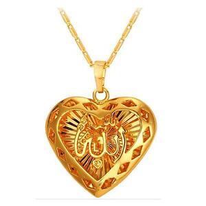8aa520f0ac7e Das Bild wird geladen Allahkette-Muslim-Allah-Islamische-Kette-Farbe-gold -arabisch