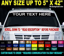 Custom Windshield Text Lettering Vinyl Decal Sticker Boat Business - Custom vinyl decal stickers for business