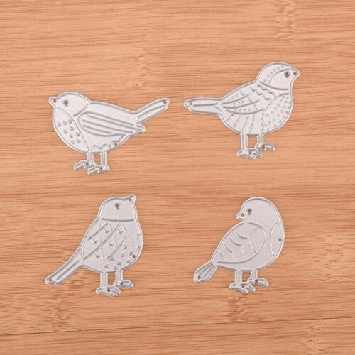 Four bird Metal DIY Cutting Dies Stencil Scrapbook Album Paper Card Emboss  DE