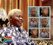 Bequia - President Nelson Mandela Sheet of six stamps