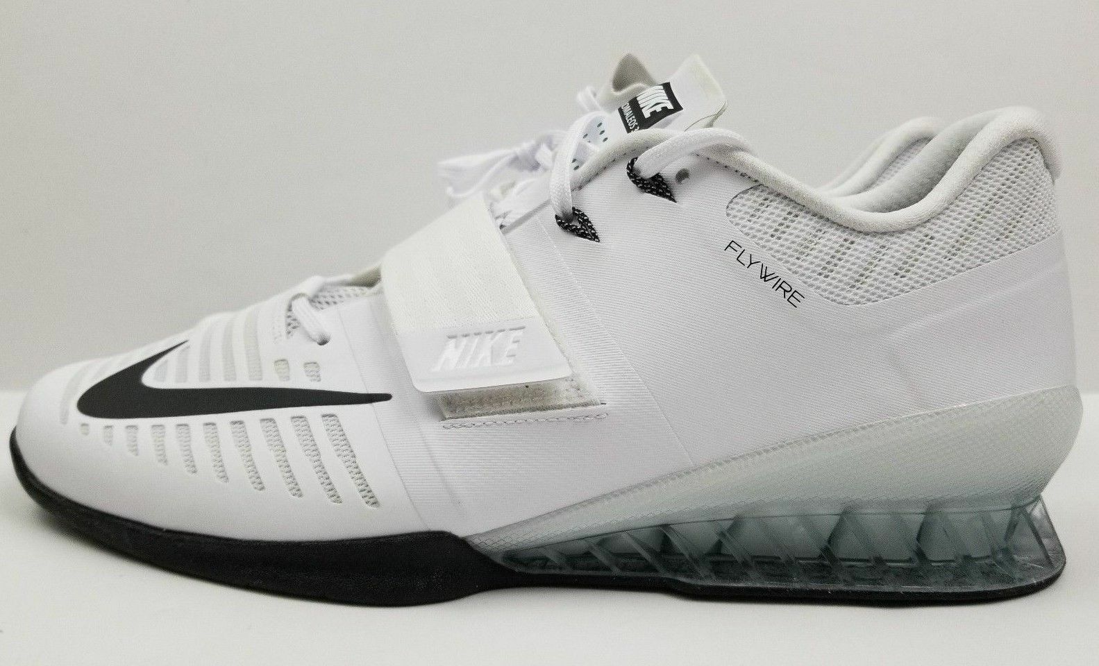 Nike Romaleos 3 Weightlifting Training shoes Men's White Black 852933-100 Sz 14
