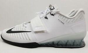 Dettagli su Nike Romaleos 3 Sollevamento Formazione Scarpe Bianco Uomo Nero 852933 100 Sz