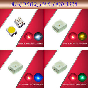 100pcs-3528-SMD-LED-Bi-Color-Red-Blue-Yellow-Green-White-LEDs-NEW
