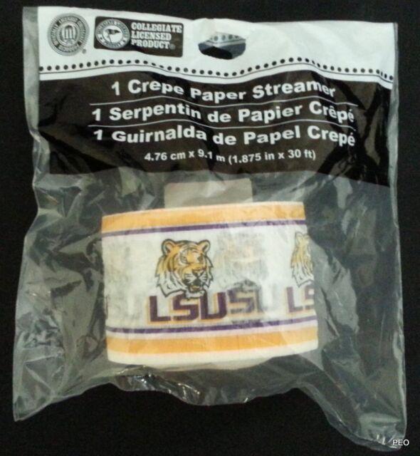 Creative Converting Lsu Tigers Crepe Paper Streamer Roll 30-Feet 074838
