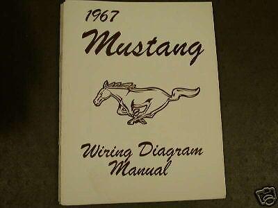 1967 Ford Mustang Wiring Diagram Manual | eBay
