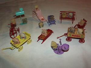 Vintage metal monster toys