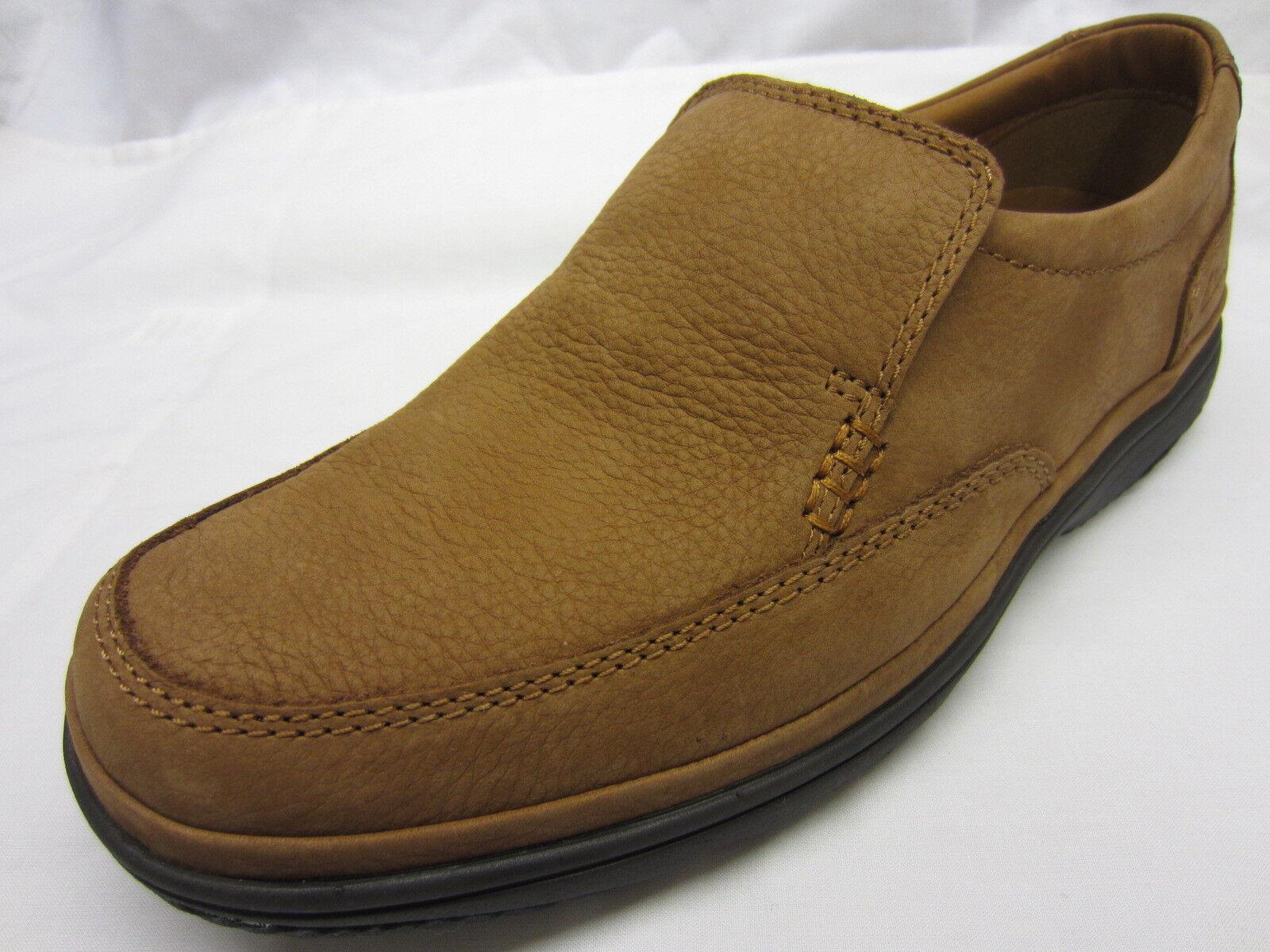 Scarpe casual da uomo  Clarks 'Swift Step' uomos Tan Nubuck Scarpe Slip-On Di Pelle