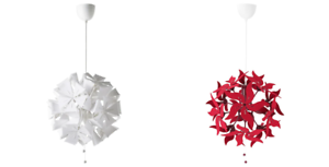 Details about *New* RAMSELE Pendant lamp, Geometric White & Dark Red 43 cm *Brand IKEA*