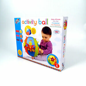 Inflatable-Activity-Baby-Ball-Toy-Fabric-Covered-Galt-Age-12m-Texture-Crinkle