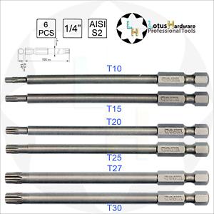T15 Long Security Torx Bit Screwdriver Tamper Proof Driver Magnetic S2 Steel NEW