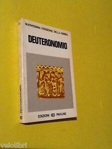 DEUTERONOMIO-Nuovissima-versione-della-Bibbia-1981-Edizioni-Paoline