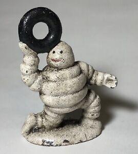 Michelin Tires Bibendum Tyre Man Cast Iron Advertising Figural Paperweight (1)