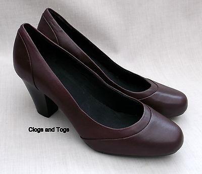 Zapatos De Cuero nuevo Clarks Ruby Shimmer Mujer Burdeos Tribunal