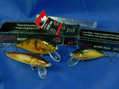 pesca spinning 3 Minnow Dam EffZett prodotti a mano e testati singolarmente