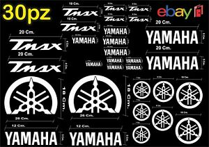 MAXI-KIT-30-PEZZI-SERIE-DI-ADESIVI-YAMAHA-TMAX-T-MAX-500-530-COLORE-BIANCO