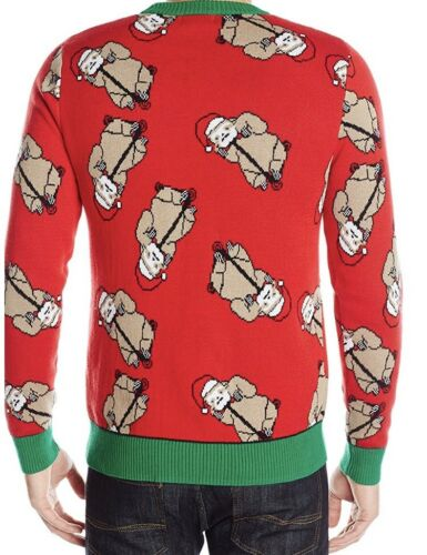 Alex Stevens Men/'s Santa  Ugly Christmas Sweater Men's Sloth Bonanza Red Large
