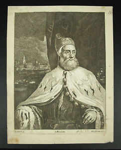 Engraving-Lucas-Vorsterman-Venice-Portrait-Of-Doge-Jacopo-Tintoretto-1673