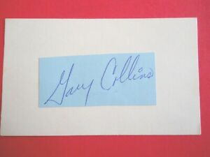 """Gary Collins - Cut Autographed on 3"""" X 5"""" Index Card - St. Louis Cardinals - 1B"""