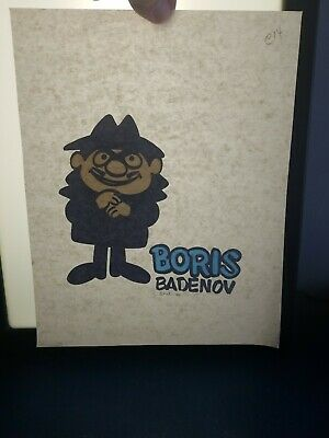 Vintage 1970s bullwinkle iron on t shirt transfer nos TV shows toys