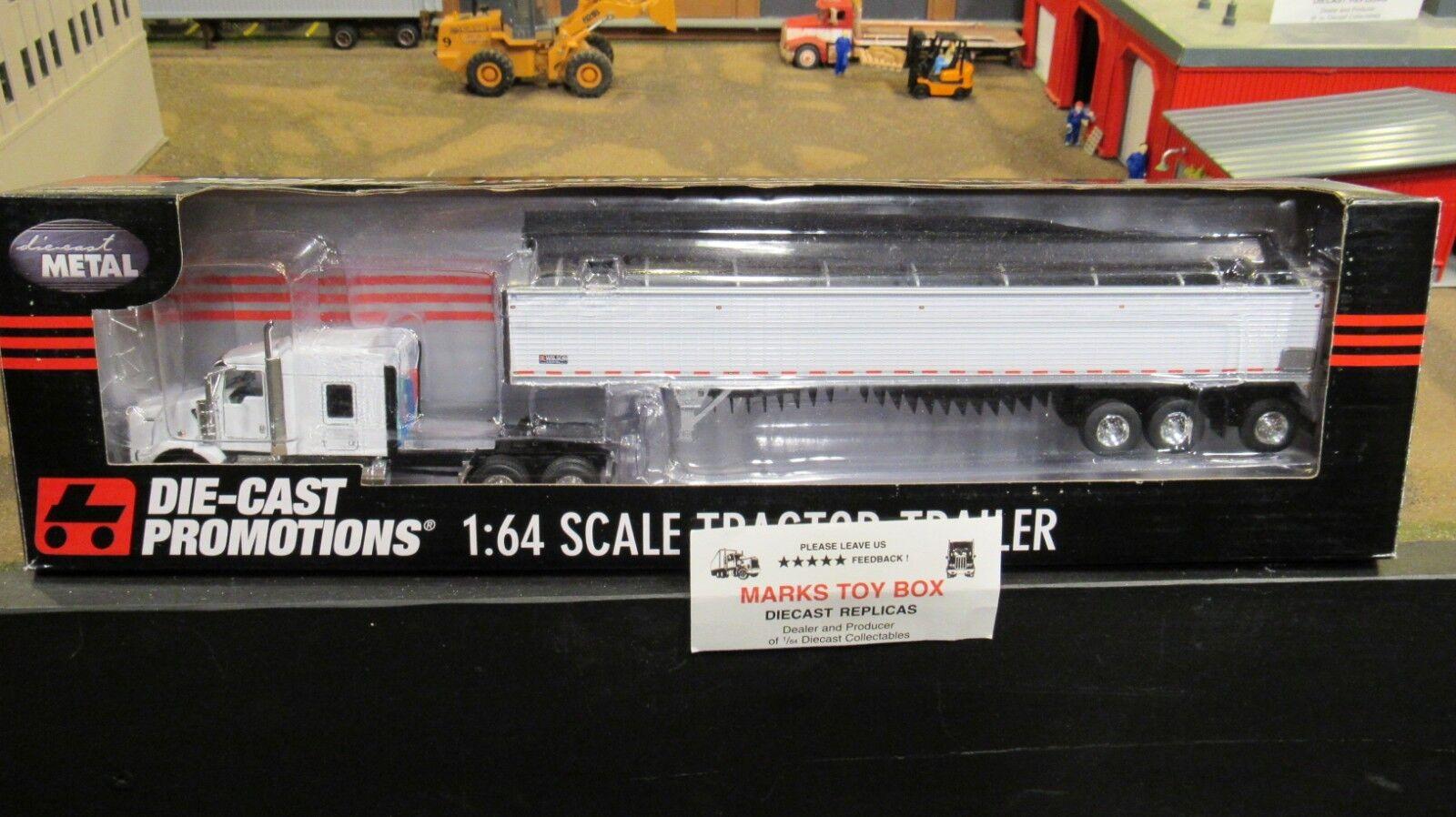 Operador de propietario DCPT800 Kw Semi Cab Truck & Wilson grano Remolque 1 64 CL