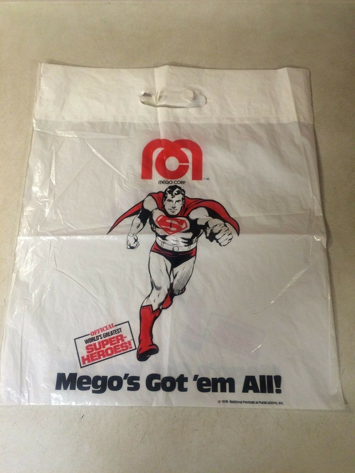 MEGO convention bag -- RARE, NEAL ADAMS, SUPERMAN, DC, 1976