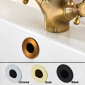 Bathroom Basin Overflow Cover Plate Faucet Sink Hole Round Decorate