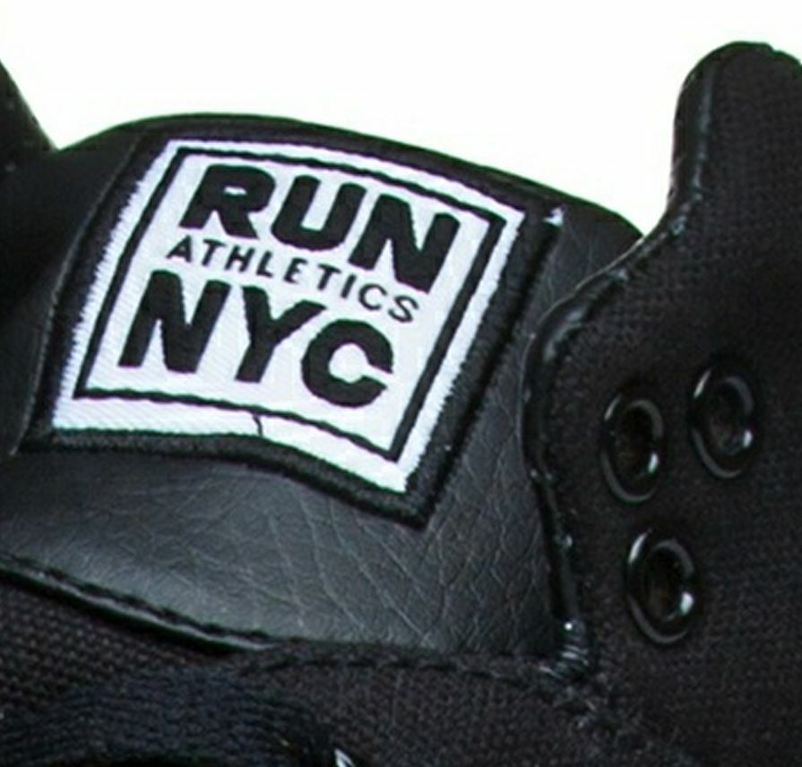 RUN ATHLETICS NYC Unisex Hi Top Sneakers 42.5, Turnschuhe Gr. 39, 41.5, 42.5, Sneakers Schwarz f8f330