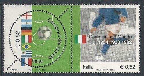 2002 ITALIA CAMPIONI DEL MONDO DI CALCIO 6 FORI MNH ** - ED