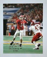 David Greene Georgia Bulldogs Autographed 16x20 Photo v Ark 2002 SEC Champs!