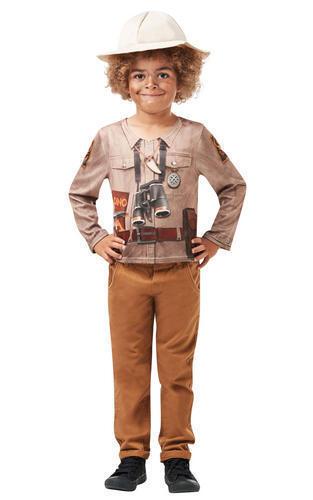 Kids Childs Dinosaure Explorer archéologue Fancy Dress Costume Outfit 7-8 ans