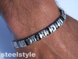 BRACELET-STAINLESS-STEEL-ROMAN-STYLE-MEN-039-S-JEWELLERY-BRACELET-RS2